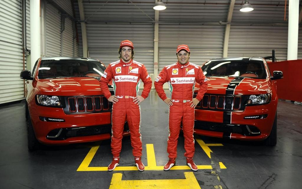 Jeep Grand Cherokee SRT8 pour les pilotes Ferrari de Formule 1