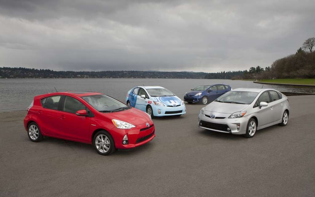La famille Toyota Prius 2012
