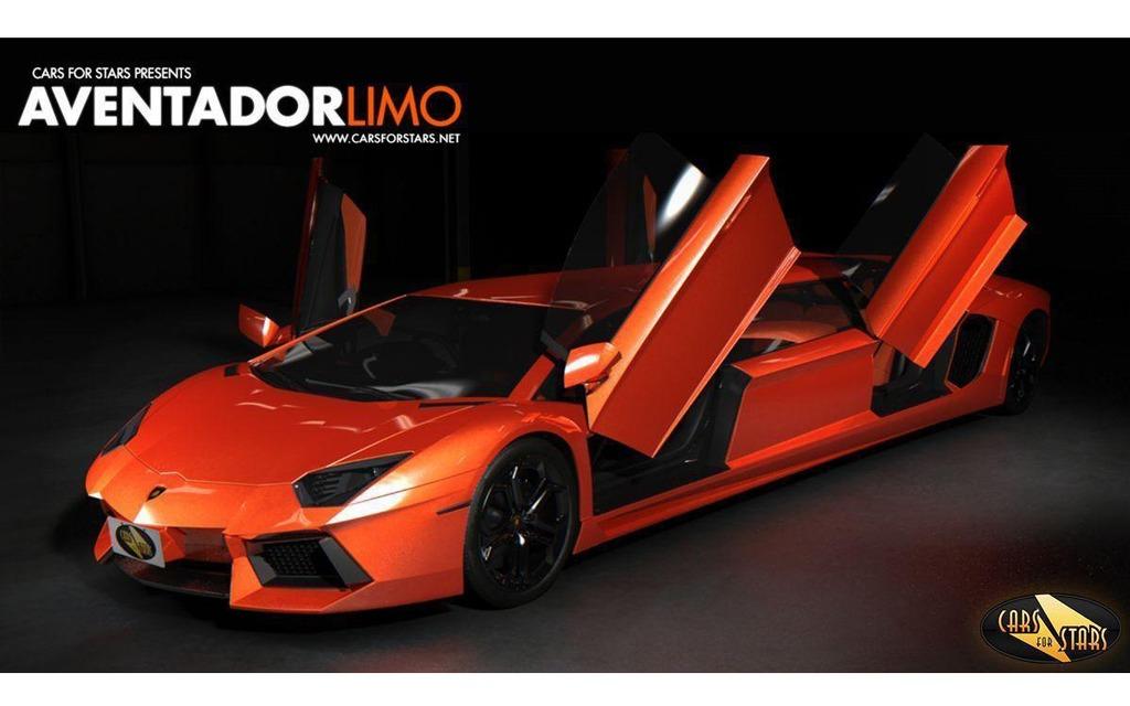 Lamborghini Aventador Convertie En Limousine Lamborghini