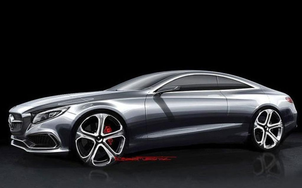 Frankfurt mercedes s class coupe sketches confirmed as for 2014 mercedes benz s class coupe