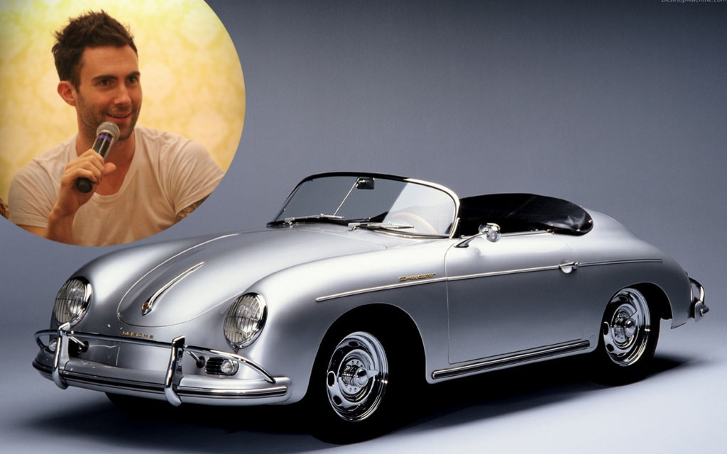 3 Adam Levine S 1958 Porsche 356 Speedster Maroon 5 S Singer And Guitarist Has A Thing For Cars
