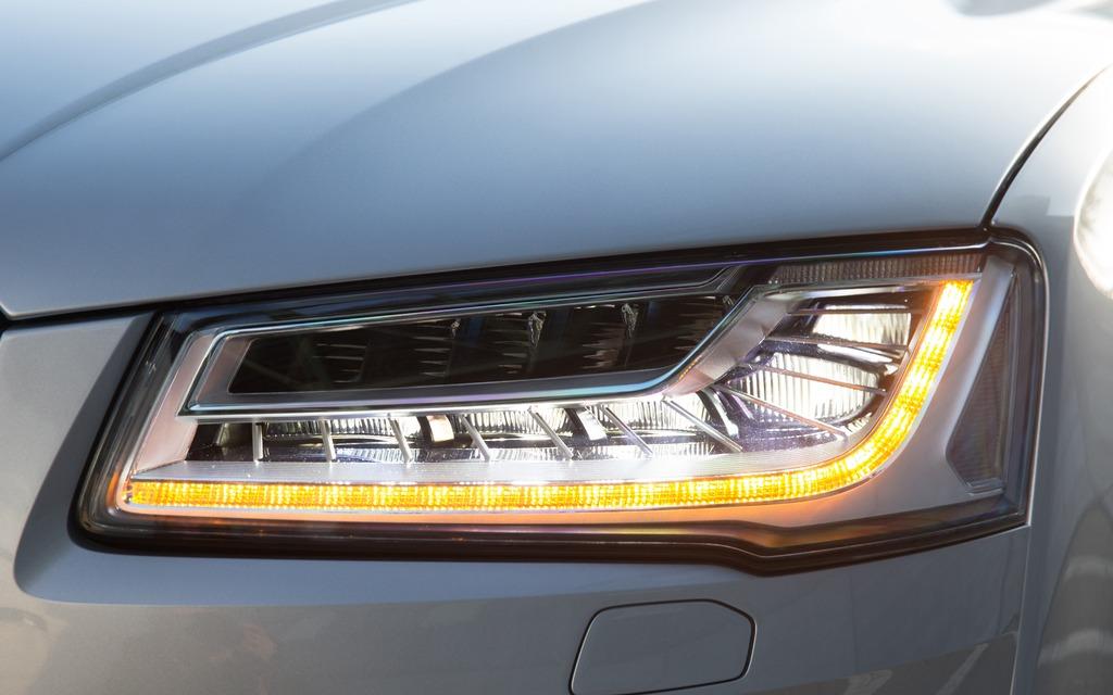 Audi A8 Headlights : Audi a matrix led headlights picture gallery