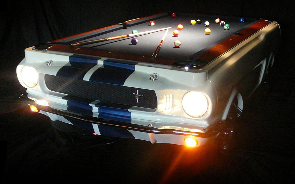 Pool table shaped like a 1967 ford mustang 10 000 - Most expensive pool table ...