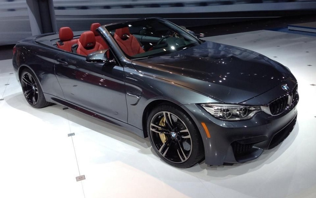 bmw show us the m4 convertible in new york 2015 bmw 4. Black Bedroom Furniture Sets. Home Design Ideas