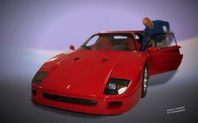 Jacques Duval examinant une Ferrari F40 de la collection Demers. Prix minimum : 1 million de dollars.