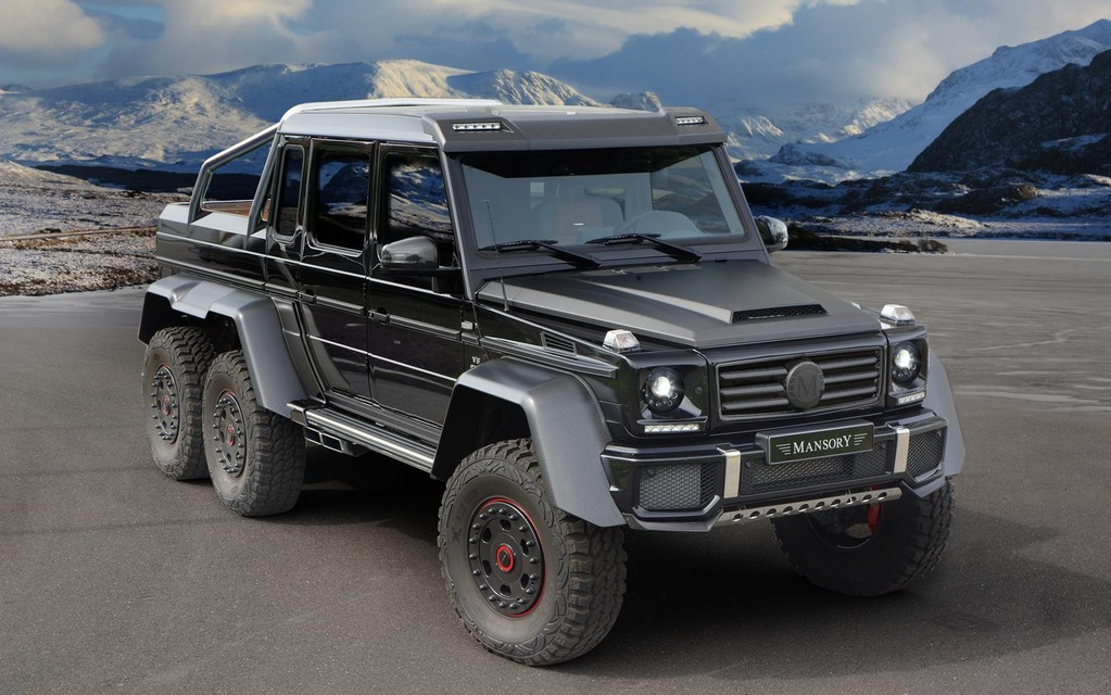 Mansory unveils itstake on the mercedes benz g63 amg 6x6 2015
