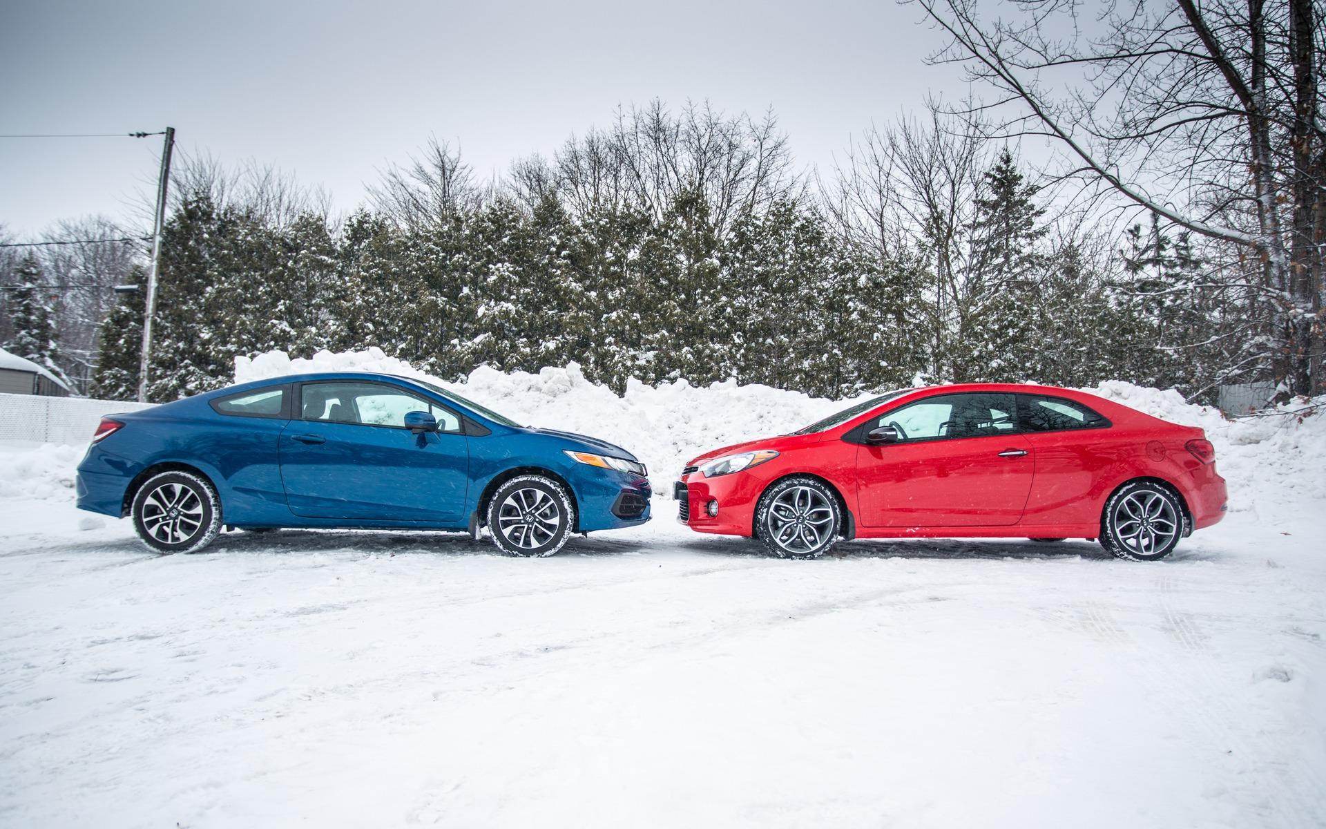 Kia Forte Koup VS Honda Civic : Ma première sportive Essais
