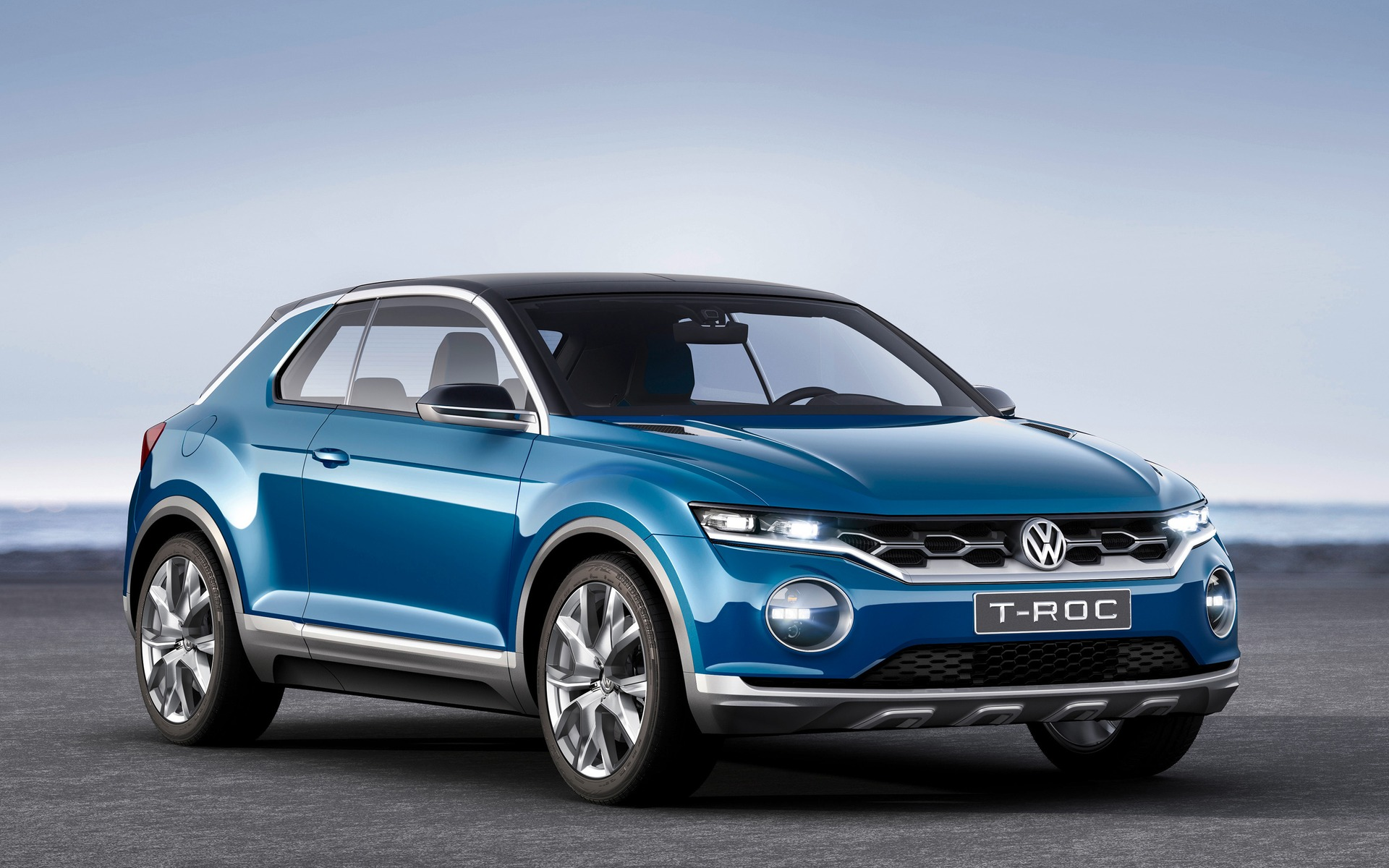 volkswagen t roc un concept agressif et attirant volkswagen concept 2015 guide auto. Black Bedroom Furniture Sets. Home Design Ideas