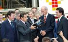 Nicolas Sarkozy et Dieter Zetsche président du groupe Daimler
