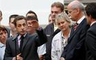 Dieter Zetsche,  président du groupe Daimler et Nicolas Sarkozy