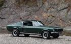 Ford Mustang GT 1968. Une réplique à peu près parfaite de la Mustang de Frank Bullitt, personnage principal du film du même nom.