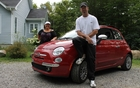 Magali Eysseric et Patrick St-Louis, nos essayeurs du mois et la Fiat 500.