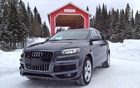The Audi Q7 TDI and a covered bridge in the Laurentians.