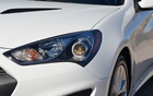 2013 Hyundai Genesis Coupe 2.0T. Featuring increasingly stylized headlamps.