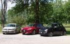 Volkswagen Jetta, Ford Focus et Fiat 500
