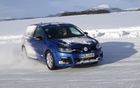 Colleague Mathieu St-Pierre refines his drifting technique in the Golf R