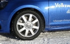 The Golf R was fitted with Swedish-made Lappi tires and 250 crampons