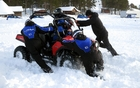Students surpass limits with ATVs on ice