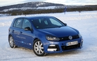 A Golf R resting in the nearly Arctic twilight in Lake Lullebadne