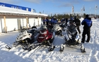 A 60 km snowmobile ride to fight jet lag upon our arrival in Arjeplog