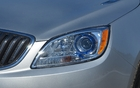 The bluish headlamps are a part of the Buick signature