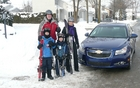 The Brossard-Bélanger clan needs a vehicle that can carry kids and skis