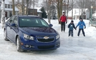 The Chevrolet Cruze takes on winter sports