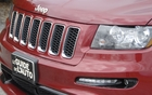 The front grille in the body colour with black inserts is exclusive to the SRT8