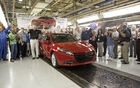 Belvidere Assembly Plant Employees Celebrate First Dodge Dart Off the Line