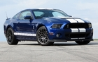 The Ford Shelby GT500 poses on the asphalt at Road Atlanta