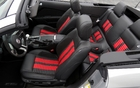 The convertible Shelby GT500's passenger compartment