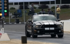 A GT500 on the track at the Atlanta Dragway