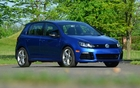 The Golf R stands out from the other versions of the Golf with its more imposing air intakes