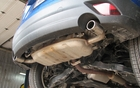 Dual exhaust tips improve air circulation and reduce muffler noise.