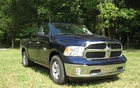 RAM 1500 SLT V6 with eight-speed automatic: 17-inch alloy rims and chrome bumpers.