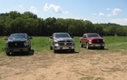 From left to right: RAM 1500 ST 4x4, SLT 4x4 and Outdoorsman 4x4.