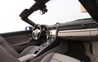 The 2013 Porsche 911 Carrera 4S Cabriolet's passenger compartment.