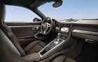 The 2013 Porsche 911 Carrera 4S Coupe's passenger compartment.