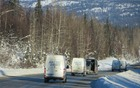 Our convoy of Sprinters trucks through Denali National Park and Reserve.