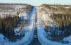 Our convoy spread out over more than a kilometre on the Dalton Highway.