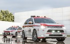 Mitsubishi Outlander et Lancer EVO Safety Car