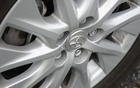 The PHV has 17-inch low-rolling-resistance tires.