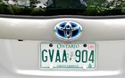 In Ontario, there are special licence plates for green vehicles.