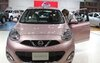 A Nissan Micra at the Bangkok Motor Show in Thailand, March 26, 2013