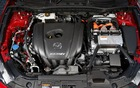 The 2.0-litre SKYACTIV engine has been modified for use in a hybrid system.