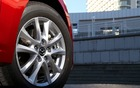 The Mazda3 Hybrid comes with low-resistance tires.
