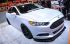 2013 Ford Fusion with a few aftermarket accessories at the 2013 SEMA Show.
