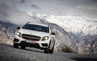 2015 Mercedes-Benz GLA 45AMG Edition 1 in action on mountain roads north of Malaga, Spain