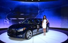 The Infiniti Q70 L at the 2014 New York Auto Show