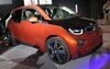 Winner of the Green Car Award, the i3, even if it is orange.